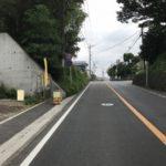 広い前面道前面道路含む現地写真