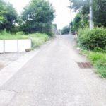 子育てに優しい住環境前面道路含む現地写真