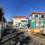 寒川駅徒歩15分の立地前面道路含む現地写真